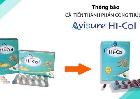 Thông báo thay đổi nhận diện trên bao bì Avisure Hical